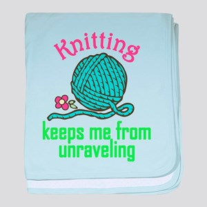 Keeps Me From Unraveling baby blanket