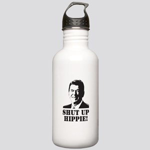 "Reagan says ""Shut Up Hippie!"" Water Bottle"