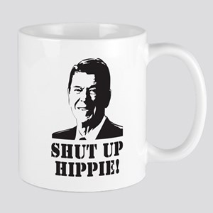 "Reagan says ""Shut Up Hippie!"" Mug"