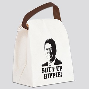 "Reagan says ""Shut Up Hippie!"" Canvas Lunch Bag"
