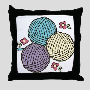Yarn Trio Throw Pillow