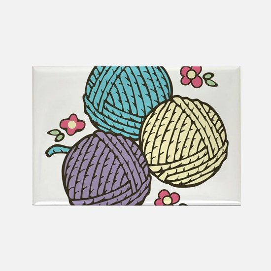Yarn Trio Rectangle Magnet