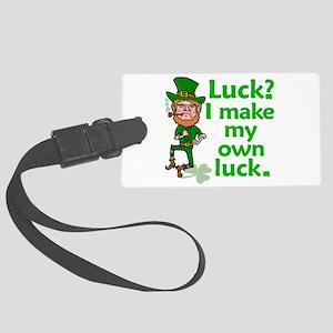 Funny Angry Lucky Irish Leprechaun Luggage Tag