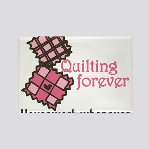 Quilting Forever Rectangle Magnet