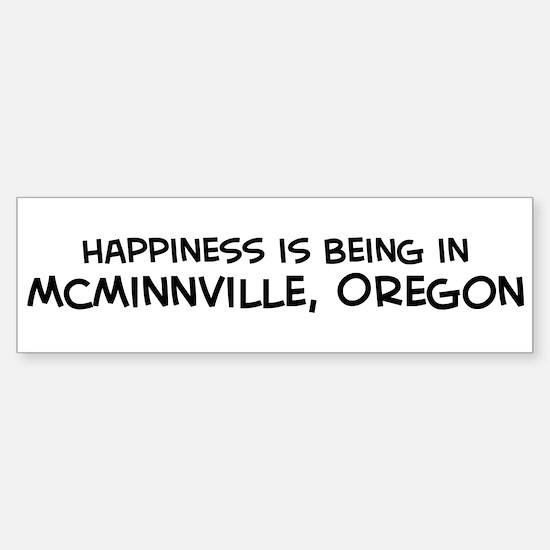 McMinnville - Happiness Bumper Bumper Bumper Sticker