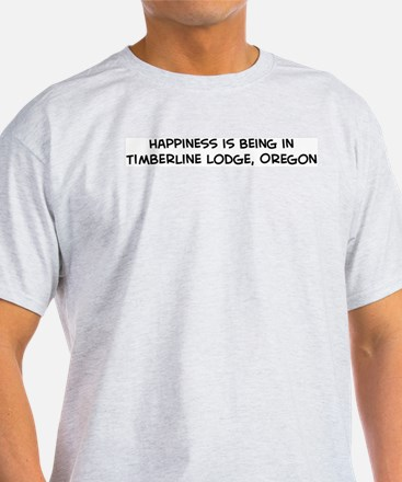 Timberline Lodge - Happiness Ash Grey T-Shirt