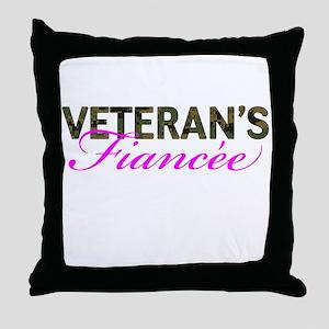 Marine Vet's Fiancee Woodland Throw Pillow