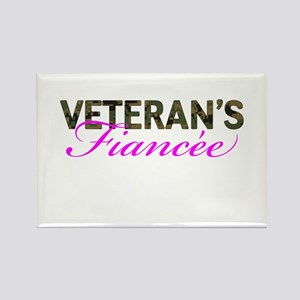 Marine Vet's Fiancee Woodland Rectangle Magnet