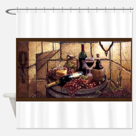 Unique Wine Shower Curtain