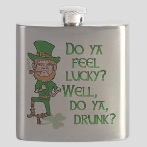 Funny Tough Lucky Drunk Leprechaun Flask