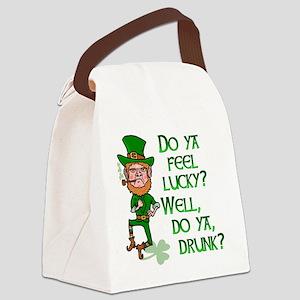 Funny Tough Lucky Drunk Leprechaun Canvas Lunch Ba