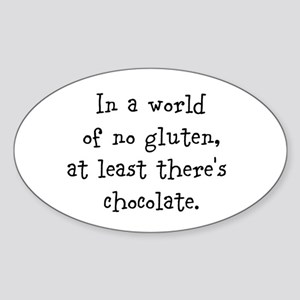 World of no gluten Sticker (Oval)