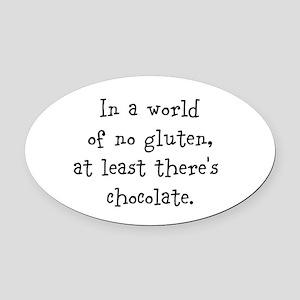 World of no gluten Oval Car Magnet