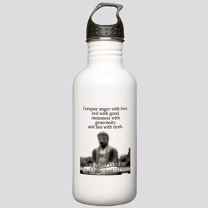 Conquer Anger With Love - Buddha Water Bottle