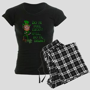 Funny Tough Lucky Drunk Leprechaun Pajamas