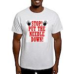 Put The Needle Down Ash Grey T-Shirt