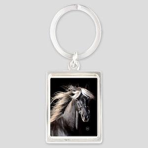 choco_horse_rnd Portrait Keychain