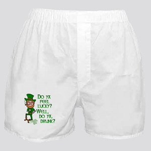 Funny Tough Lucky Drunk Leprechaun Boxer Shorts