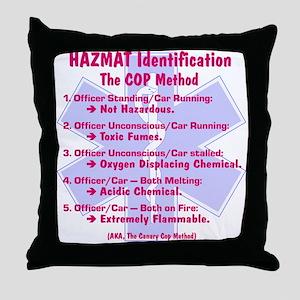 Hazmat ID - Cop Method Throw Pillow