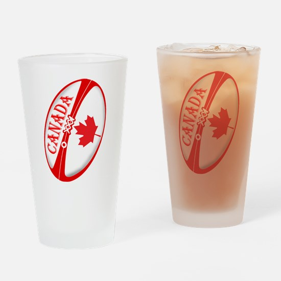 Canadian Rugby Ball Drinking Glass