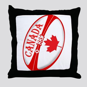 Canadian Rugby Ball Throw Pillow