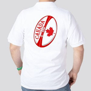 Canadian Rugby Ball Golf Shirt