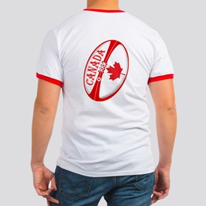 Canadian Rugby Ball Ringer T