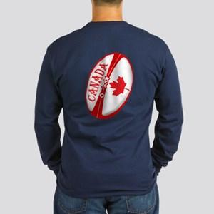 Canadian Rugby Ball Long Sleeve Dark T-Shirt