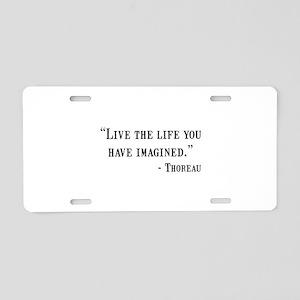 Thoreau Quote Aluminum License Plate