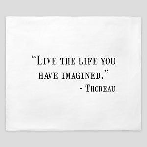 Thoreau Quote King Duvet