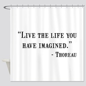 Thoreau Quote Shower Curtain