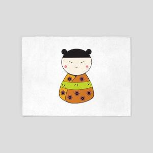 Japanese Doll 5'x7'Area Rug