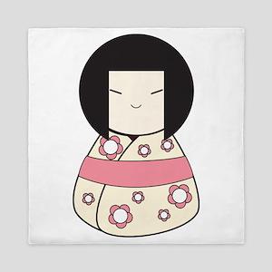 Japanese Doll Queen Duvet