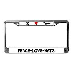 Peace-Love-Bats License Plate Frame