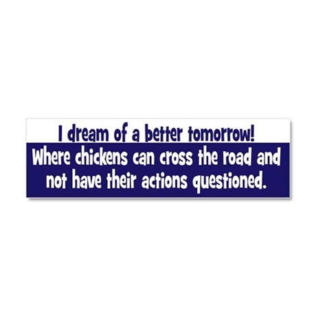 Chickens Cross the Road Car Magnet 10 x 3