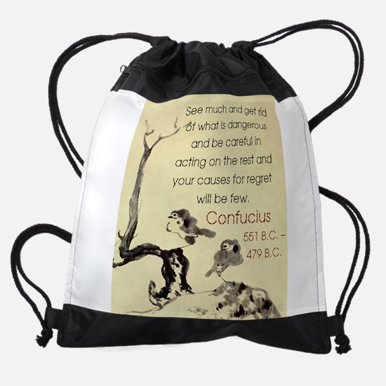 See Much And Get Rid Of - Confucius Drawstring Bag