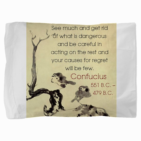 See Much And Get Rid Of - Confucius Pillow Sham