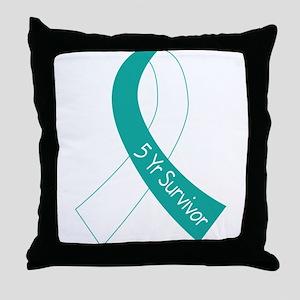 Cervical Cancer 5 Year Survivor Throw Pillow