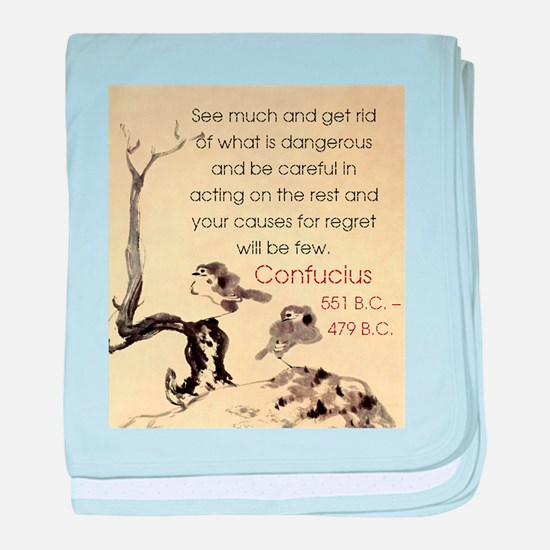 See Much And Get Rid Of - Confucius baby blanket