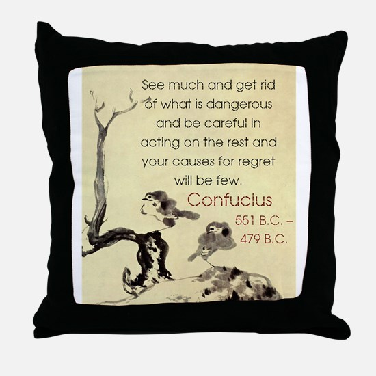 See Much And Get Rid Of - Confucius Throw Pillow