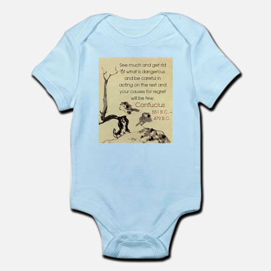 See Much And Get Rid Of - Confucius Infant Bodysui