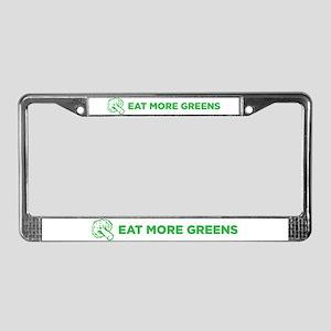Eat More Greens License Plate Frame