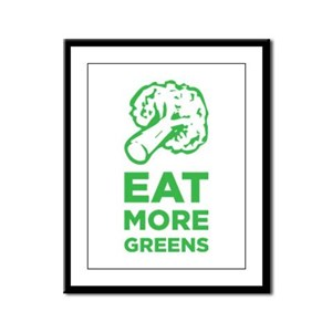 Eat More Greens Framed Panel Print