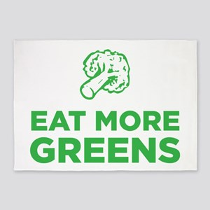 Eat More Greens 5'x7'Area Rug
