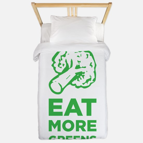 Eat More Greens Twin Duvet