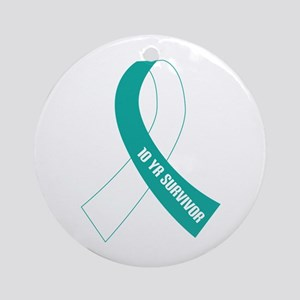 Cervical Cancer 10 Year Survivor Ornament (Round)