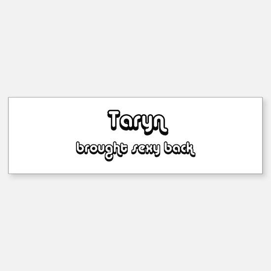 Sexy: Taryn Bumper Car Car Sticker