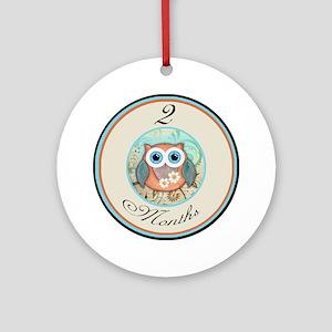 2 Months Owl Milestone Ornament (Round)