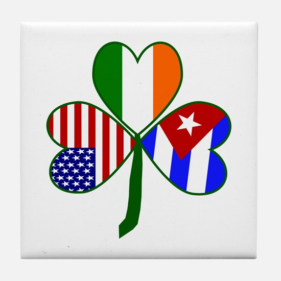 Shamrock of Cuba Tile Coaster