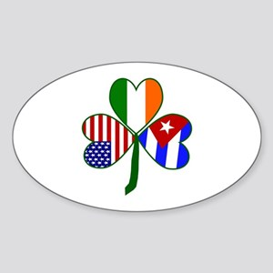Shamrock of Cuba Sticker (Oval)